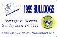 Round 17: Bulldogs v Canberra Raiders