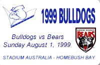 Round 22: Bulldogs v North Sydney Bears